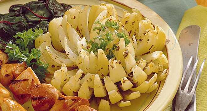herb baked onion bloom